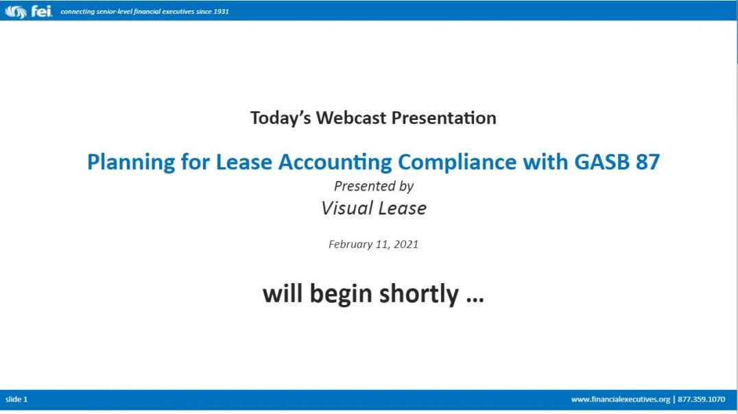 Webinar: Planning for Lease Accounting Compliance with GASB 87