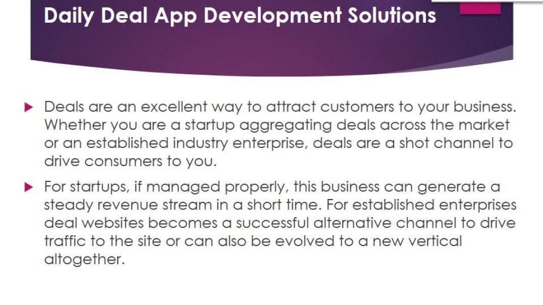 Daily Deals Website Development