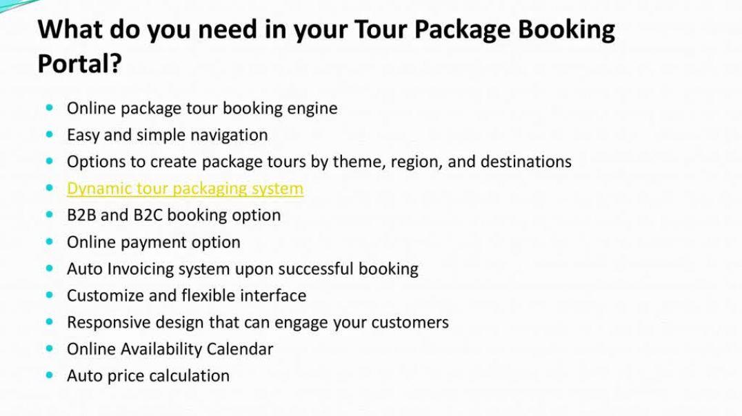 Tour Package Booking Portal Development