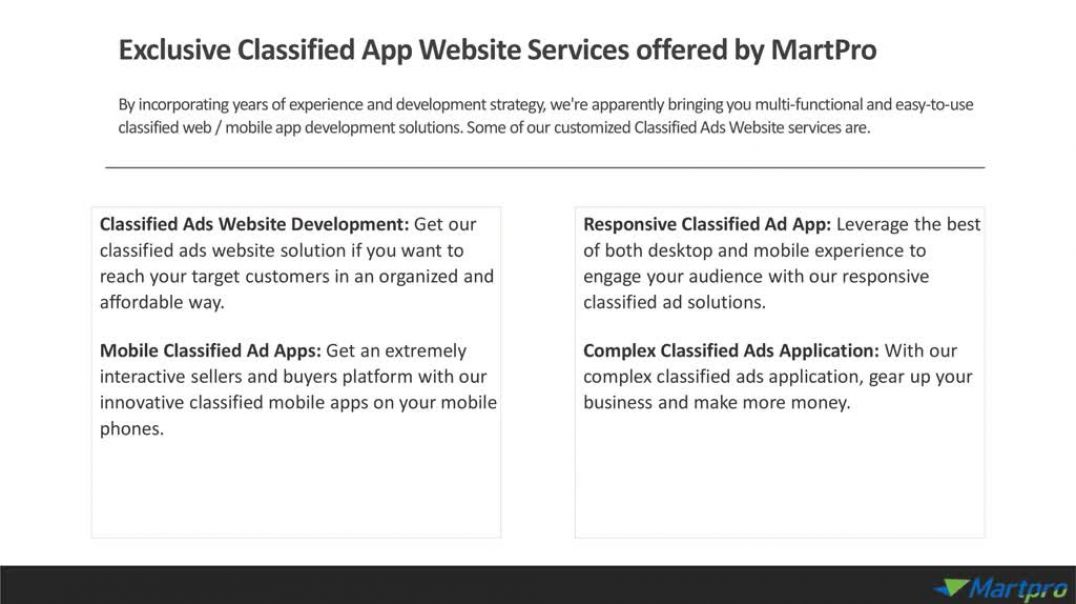 Classified Ads Website Solution