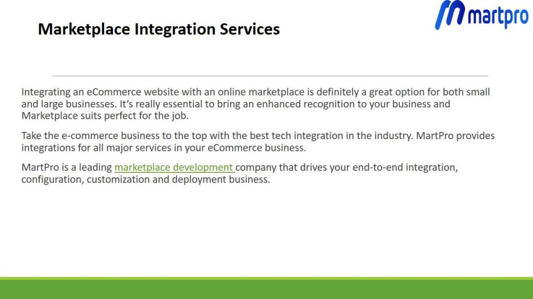 MarketPlace Integration Services