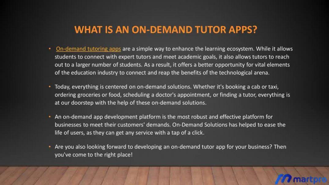 On-Demand Tutor App Development