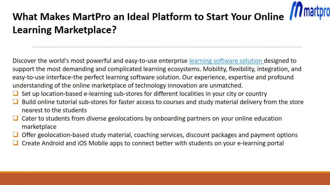 Online Learning MarketPlace