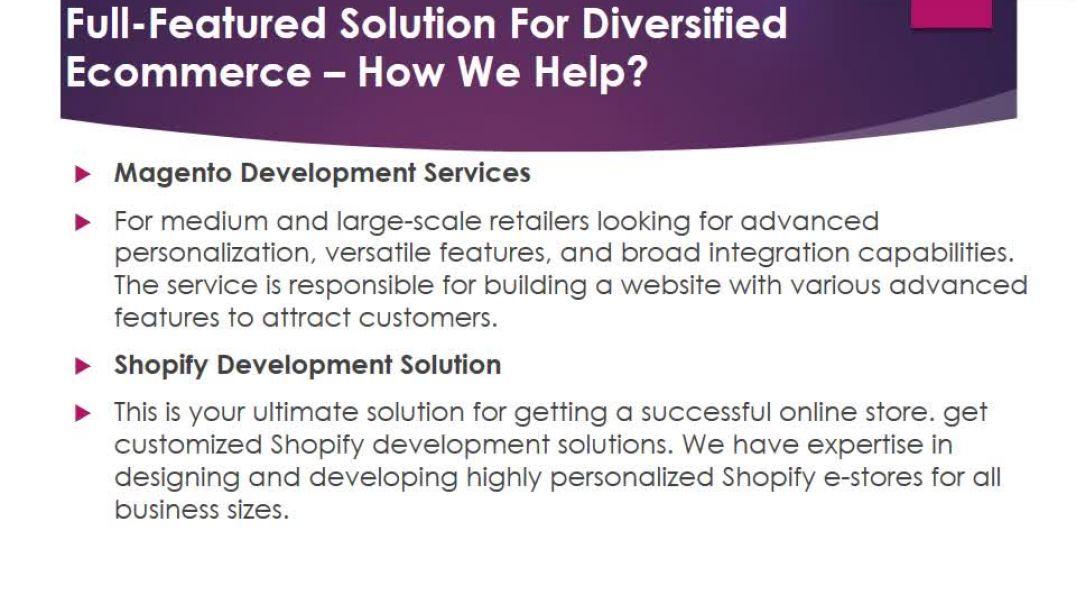 Custom Ecommerce Development Solutions