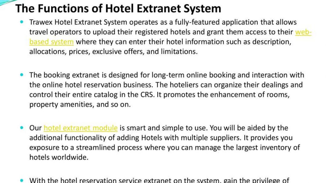 Important Features Of An Online Hotel Extranet System